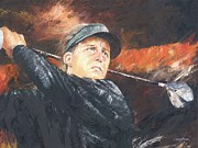 Golf Painting Prints - Phil Mickelson Print by Christiaan Bekker