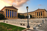 Philadelphia Metal Prints - Philadelphia Museum of Art Metal Print by Olivier Le Queinec