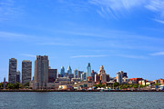 Delaware River Framed Prints - Philadelphia Framed Print by Olivier Le Queinec
