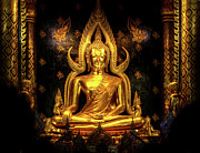 Doug Fisher Prints - Phra Buddha Chinnarat Print by Douglas J Fisher