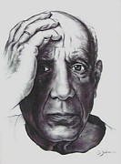 Indian Ink Prints - Picasso Print by Guillaume Bruno