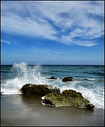 Bluesky Digital Art Framed Prints - Piedras en el mar Framed Print by Riccardo Zullian