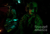 Field Glasses Prints - Pilots Equipped With Night Vision Print by Terry Moore