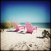 Florida Flowers Posters - Pink Beach Poster by Chris Andruskiewicz
