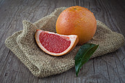 Pink Grapefruit Print by Sabino Parente
