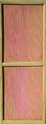 Geometric Sculpture Prints - Pink Mahogany Blush Cabinet Door Print by Asha Carolyn Young