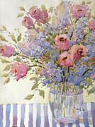 Joyce Hicks - Pink Roses and Lilacs