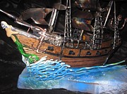 Pirate Ship Sculptures - Pirates 4 Life by Mike Murphy