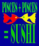 Eat Mixed Media Prints - Pisces Print by Patrick J Murphy