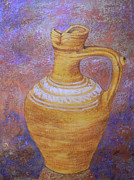 Pottery Pitcher Painting Prints - Pitcher Print by Adel Nemeth