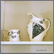 Pottery Pitcher Originals - Pitcher and Cup by Kathy Barney