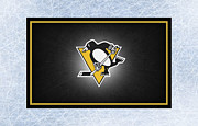 Puck Framed Prints - Pittsburgh Penguins Framed Print by Joe Hamilton