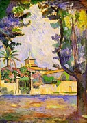 St.tropez Paintings - Place des Lices St Tropez by Henri Matisse