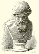 Famous Drawings Prints - Plato  Print by English School