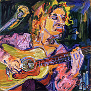 Singer Paintings - Playing for Jimmy by Ginette Callaway