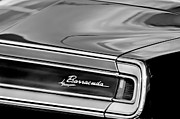 Plymouth Posters - Plymouth Barracuda Taillight Emblem Poster by Jill Reger