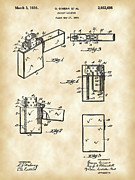 Cigar Metal Prints - Pocket Lighter Patent Metal Print by Stephen Younts
