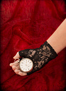 Black Lace Prints - Pocket Watch Print by Christopher and Amanda Elwell
