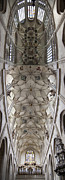 St Barbara Art - pointed vault of Saint Barbara church by Michal Boubin