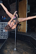 Legs Spread Photos - Pole danceing by Robert Floyd