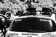 Cop Cars Posters - policia guardia urbana patrol cars Barcelona Catalonia Spain Poster by Joe Fox
