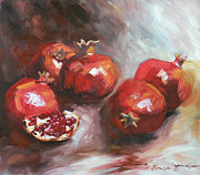 Still-life With Pomegranates Prints - Pomegranate II Print by Tanya Jansen