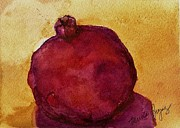Fruitbowl Paintings - Pomegranate by Marcia Breznay