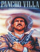 Poncho Painting Framed Prints - Poncho Villa Framed Print by Christopher Fresquez