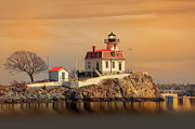 Sunset Light Photos - Ponham Rock Light by Robin-lee Vieira