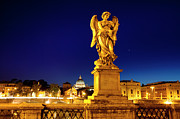 Night Angel Photos - Ponte Sant Angelo by Brian Jannsen