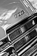 Muscle Car Framed Prints - Pontiac GTO Taillight Emblem Framed Print by Jill Reger