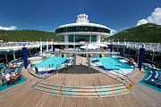 Deck Prints - Pool Deck Adventure of the Seas Print by Amy Cicconi