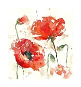 Poppies Print by Deborah Carman