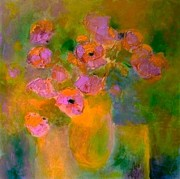 Demeter Gui Art - Poppies in a vase by Demeter Gui