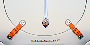 Porsche 1600 Hood Emblem Print by Jill Reger