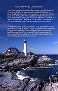 Photos Of Lighthouses Framed Prints - Portland Head Lighthouse Framed Print by Skip Willits