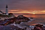 Portland Head Lighthouse Sunrise Print by Alana Ranney