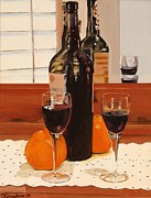 Wine Glasses Paintings - Porto Velho by Debra Chmelina