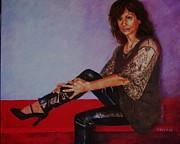 Portrait Of Maria Print by Dagmar Helbig