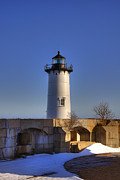 New England Lighthouse Prints - Portsmouth Harbor Light Print by Joann Vitali
