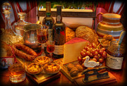 Cabernet Photo Prints - Portuguese Tapas Large Print by Lee Dos Santos
