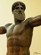 Greek Gods Art - Poseidon by Ellen Henneke