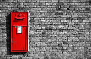 Brick Wall Framed Prints - Post Box Framed Print by Mark Rogan