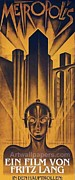 Futuristic Drawings Posters - Poster from the film Metropolis 1927 Poster by Anonymous