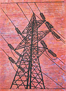 Austin Drawings - Power by William Cauthern