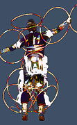 Powwow Hoop Dancer Print by Linda  Parker