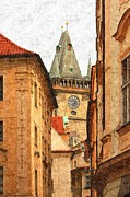 Prague Digital Art Framed Prints - Prague - Old Town Framed Print by Ludek Sagi Lukac