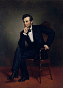 Abe Lincoln Paintings - President Abraham Lincoln by War Is Hell Store