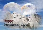 Wildlife Celebration Digital Art - Presidents Day Mt Rushmore by Jeanette K
