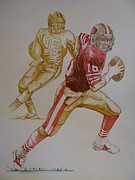 Football Paintings - Pride of the Bay-Joe Montana by Phil  King